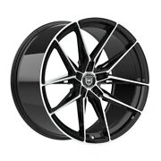 4 Hp1 22 Inch Staggered Black Rims Fits Chrysler 300 2005 - 2020