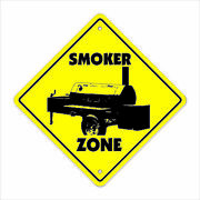 Smoker Crossing Decal Zone Xing Bbq Barbeque Grill Bar B Que Cooking Chef Pig