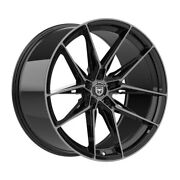 4 Hp1 22 Inch Staggered Black Tint Rims Fits Ford Mustang V6 2015 - 2020