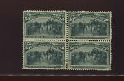 240 Columbian Exposition Issue Rare Used Block Of 4 Stamps With Pf Cert 240-a1