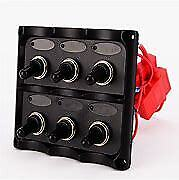Switch Panel With Fuses Wired Compact Bep 969 9006wp 6 Toggle Switches Sale