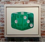 The Lucky Emerald Green Dice - Oil Painting On Canvas