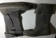 Ugg Women's Grey Classic Cardy Tall Knit Boots Size 7 M Us Eu 38 S/n 5819