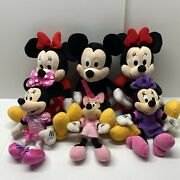 Disney Parks Authentic 14 Mickey And Minnie Mouse Plush Six 6 Characters Lot