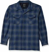 Pendleton Menand039s Long Sleeve Classic Fit Board Wool Shirt