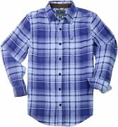 Bone Collector Mens Flannel Long Sleeve Shirt, Button Up Plaid Shirt Relaxed Fit