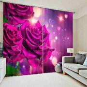 Dewdrop Red Interface 3d Curtain Blockout Photo Printing Curtains Drape Fabric