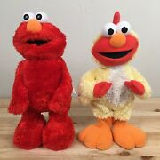 Tickle Me Elmo Tmx Classic Edition And Chicken Elmo Dance Pair Tested Working