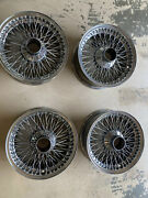 Jaguar Xk-e Series Iii Wire Wheels- Four Sold As A Set Of 4 - Used