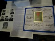The Award Of The George Medal To Airmen Signed By 7 - Large A3 First Day Cover