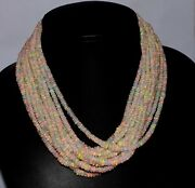 A++ 20strands 16inches Natural Ethiopian Welo Fire Opal Bead Wholesale Necklace