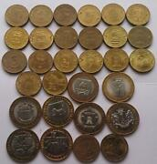 Set Of 30 Various Commemorative Coins Of Russia - 10 Roubles 2011 -2018