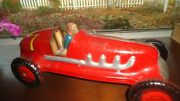 Marx Giant King Boat Tail Tin Litho Indy Racer 1940s 12 Excellent Works