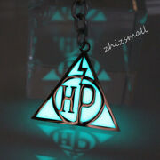 Harry Potter Deathly Hallows Keychain Glow In The Dark Alloy Metal Classic