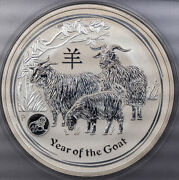 2015 Australia 1 Year Of The Goat Lion Privy Anacs Ms68 Dcam High Grade Silver