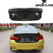 Fit For Bmw 4series F32 F82 M4 14-19 Rear Trunk Lid Boot Shell Cover Dry Carbon