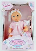 Gotz Aquini Drink And Wet Vinyl Bath Baby Doll 13 With Bottle Potty And Towel Nib