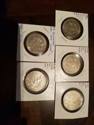 Mexico Large 5 Coin Lot Of 50 Pesos Copper Nickel Aztec Coyolxauhqui Lot 20
