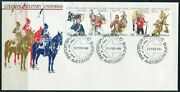 1985 Australia Colonial Military Uniforms Strip Of 5 First Day Cover, Vgc