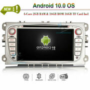 Android 10.0 Bluetooth Car Radio Wifi Gps Sat Navi For Ford Mondeo Focus S/c-max