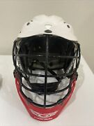 Cascade Cpx-r Lacrosse Helmet White Red Black Cpxr One Size Adjustable