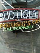 Extremely Rare Collectible Bud Light Spotlight's On California Neon Light
