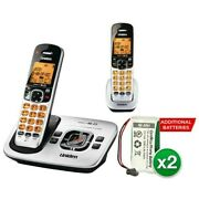 Uniden D1780-2 With Additional Battery Dect 6.0 Cordless Phone W/ 1 Extra