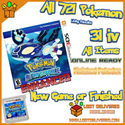 Pokemon Alpha Sapphire Version Enhanced Loaded With All 721 + 6iv Nintendo 3ds