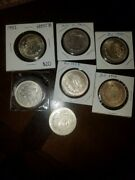 Bu 1932 Mexico .720 Silver Lot Of 6 Coins And 1-1920 Circulated Coin