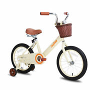 Steel Frame 12-14-16 Kids Bike Bicycle Boys And Girls With Training Wheels