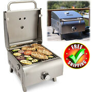 Portable Propane Gas Grill Stainless Steel Barbecue Rv Outdoor Camp Backyard Bbq