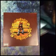 Gfa College Dropout Vinyl Kanye West Signed Record Album Proof Ad1 Coa