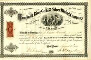Humboldt River Gold And Silver Mining Company - Stock Certificate