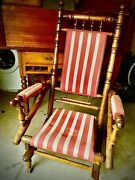 Antique Rocking Chair Fabric. Was 245 - Now 100 Hurry Cushion Sold Separately