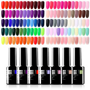 Uv Led High Pigment Gel Polish Nail Art Kit Lacquer Supplies For Professionals