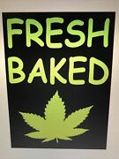 Fresh Baked Organic Life / Funny Home Decor / Wall Sign Or Door 6 X 8