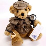 Sherlock Holmes Great British Teddy Bear Collectable Rare With Original Tags