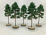 Freon Hand Made Realistic N Scale 5 Adult Pine Trees Train Models 4.0 Inch Tall