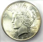 1927 Peace Silver Dollar 1 Coin - Certified Icg Ms66 - 11900 Guide Value