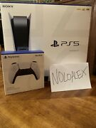Sony Playstation 5 Standard Disc Version With Extra Dualsense Controller