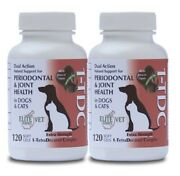 1tdc Periodontal + Jointandnbsp Health For Dogs + Cats Andndash 120 Count Andndash Two Bottle Pack