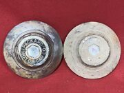 19311933 Packard Motor Car Co. Hub Cap Grease Set Of 2 Rusty And Dinged Up 8.5