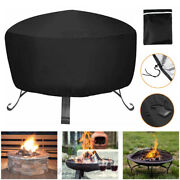 Patio Round Fire Pit Cover Waterproof Dust Grill Bbq Protector Furniture Covers
