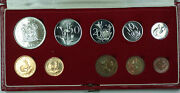 1975 South Africa 10 Coin Proof Set W/ Gold And Silver Rands In Mint Box