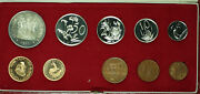 1977 South Africa 10 Coin Proof Set W/ Gold And Silver Rands In Mint Box