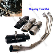 Full Exhaust System Muffler Baffles Front Header Pipe For Yamaha Yzf R3 R25 Mt03