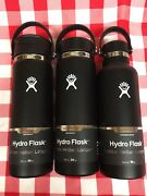 Hydro Flask 20oz Coffee + 20oz Wide Mouth + 18oz Standard Black - New