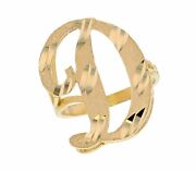 10k Or 14k Real Yellow Gold Ladies Tendy Chic Cursive Inital Letter D Ring