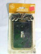 1977 Vintage 1776 American Eagle Solid Die Cast Metal Wall Plate Switch Cover Ge