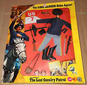 70and039s Marx/gabriel Lone Ranger Lost Cavalry Patrol Action Figure Adventure Misb